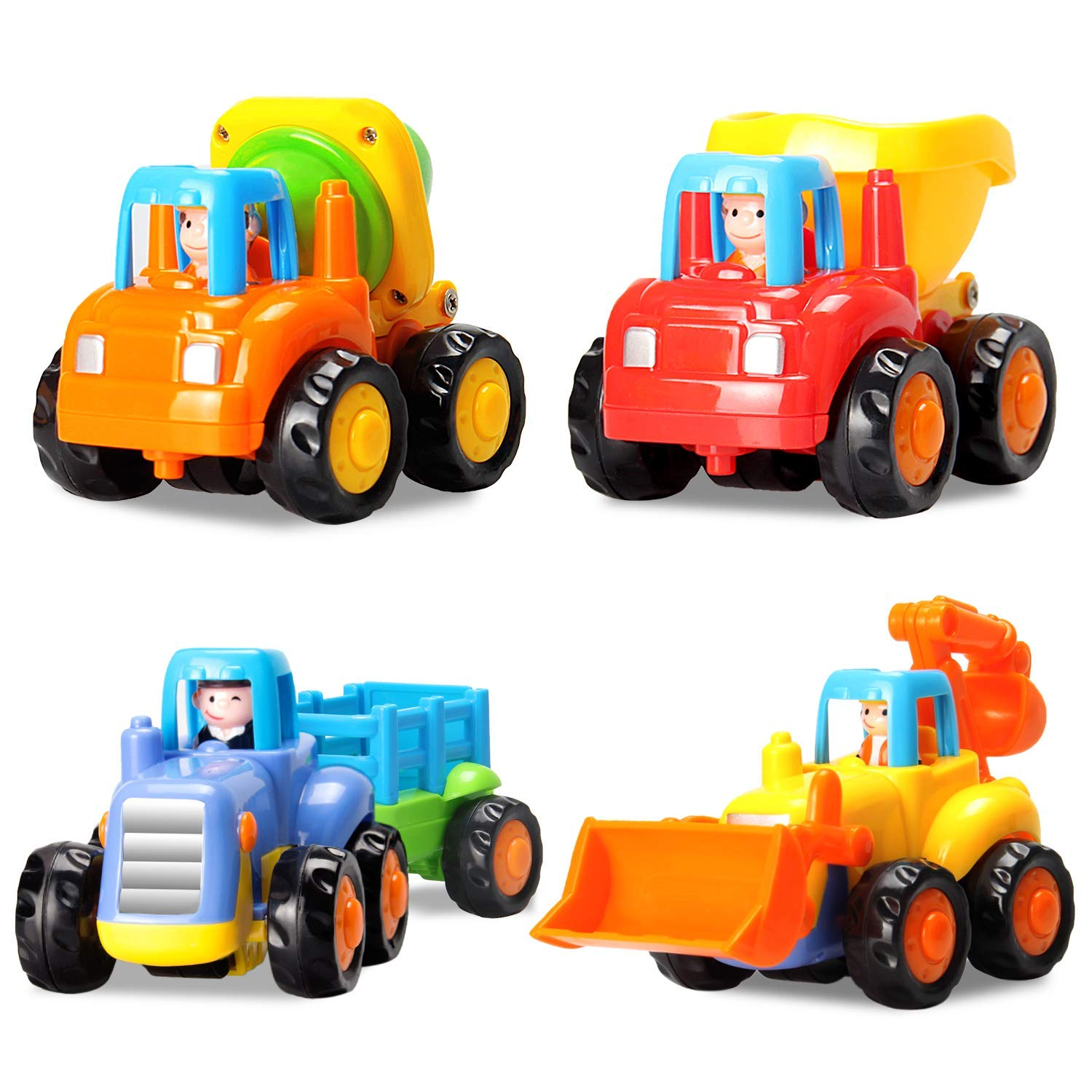 18e95def042a9 Get Quotations · HOMOF Baby Toys Push Go Friction Powered Car Toys Early  Educational Toddler oys Sets 4 PCS