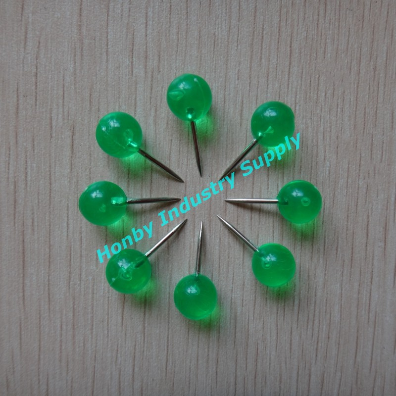 wholesale beautiful decorative 20mm clear colored plastic push pin