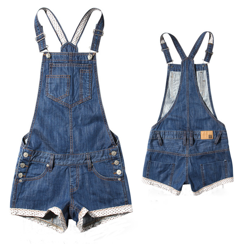 a273eaefa80 Get Quotations · Rompers womens overalls loose casual denim jumpsuit shorts  jeans women fashion plus size denim short overalls