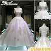hot sell women embroidery wedding dress high quality satin slip royal cathedral train wedding dress
