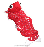 Red Goldfish Costume Outfit Buttoned Coat Pet small Boy Girl Dog Clothes