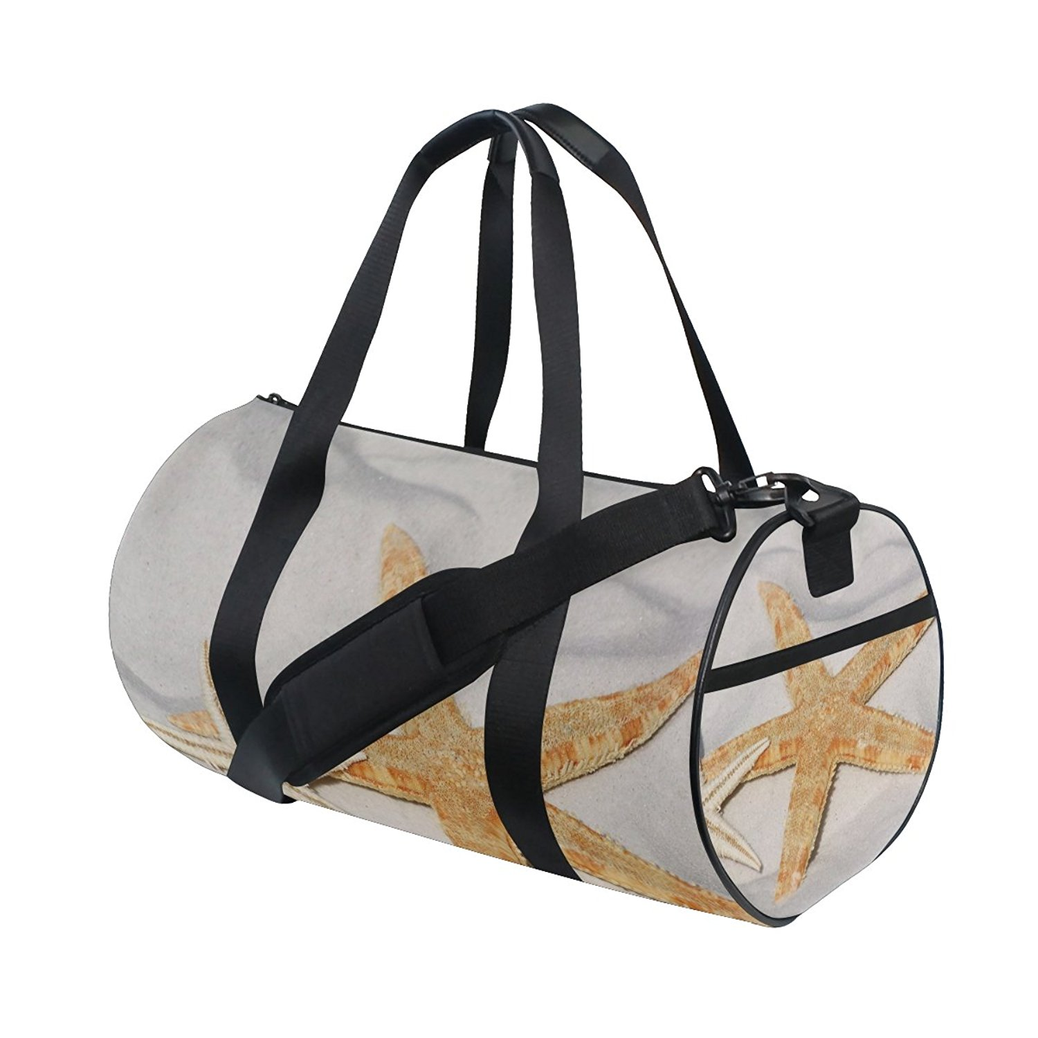Gym Bag Sea Beach Sand Starfish Shell Duffle Bag Large Sport Travel Bags for Men Women