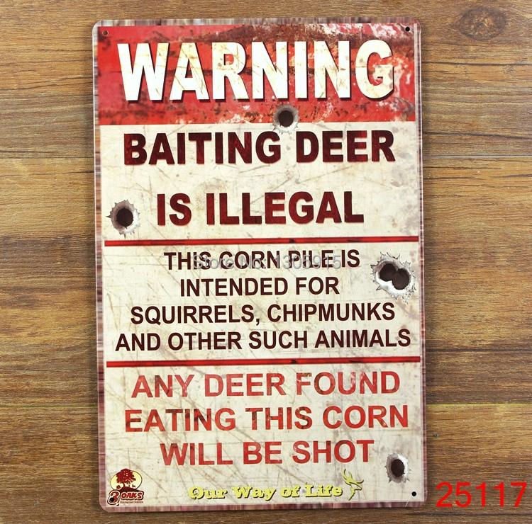 Warning! Tin Sign Bar pub home Wall Decor Retro Metal Art Poster