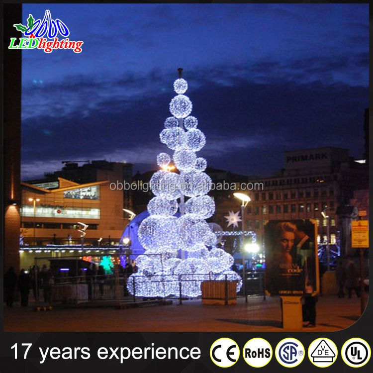 Blue Led 3d Motif Christmas Tree Lights For Outdoor Ues
