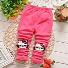 2016 Spring new korean style cotton with cat print baby girls leggings B067