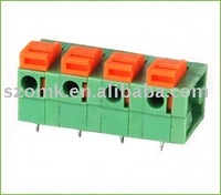 PCB Screwless Terminal Block spring type straight pin wire connector din rail electronics