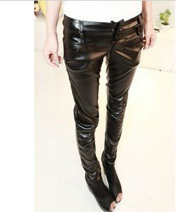 2012 Western new style autumn clothing backing leather pants