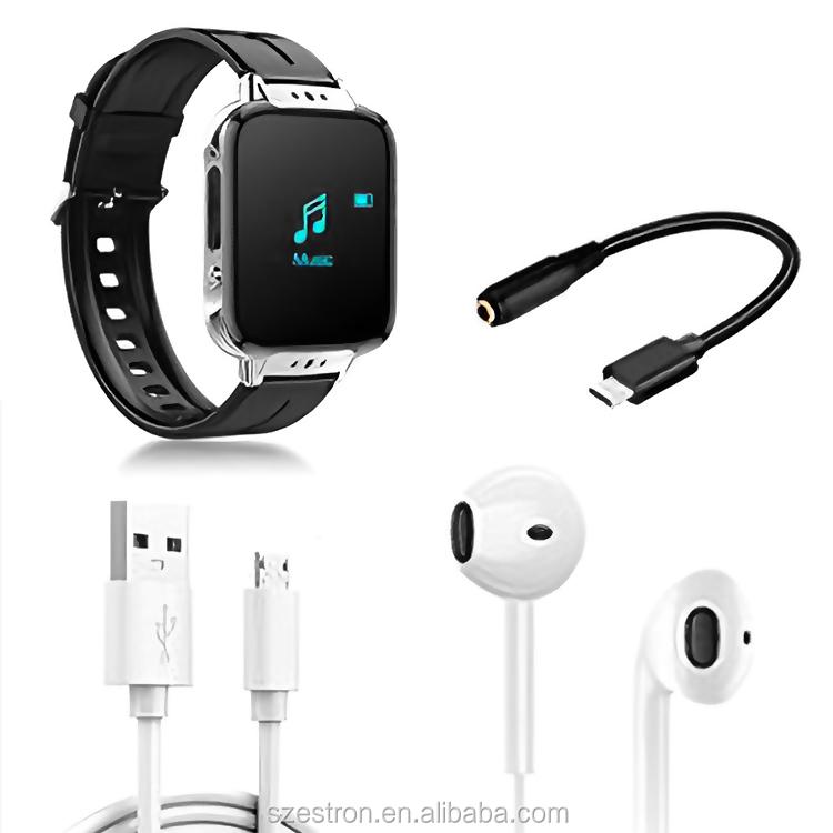Mais novo MP3 Player Esportes Assistir MP4 Player À Prova D 'Água Bluetooth 4.2 Pediometer E-Leitura Registro OLED Walkman Watch Player