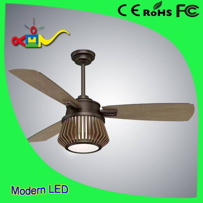 6 heads hidden blades ceiling fan with light and remote