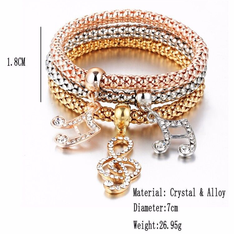 Fashion Bangle 2017 Womens Gold Magnetic Closure Charm Bracelets
