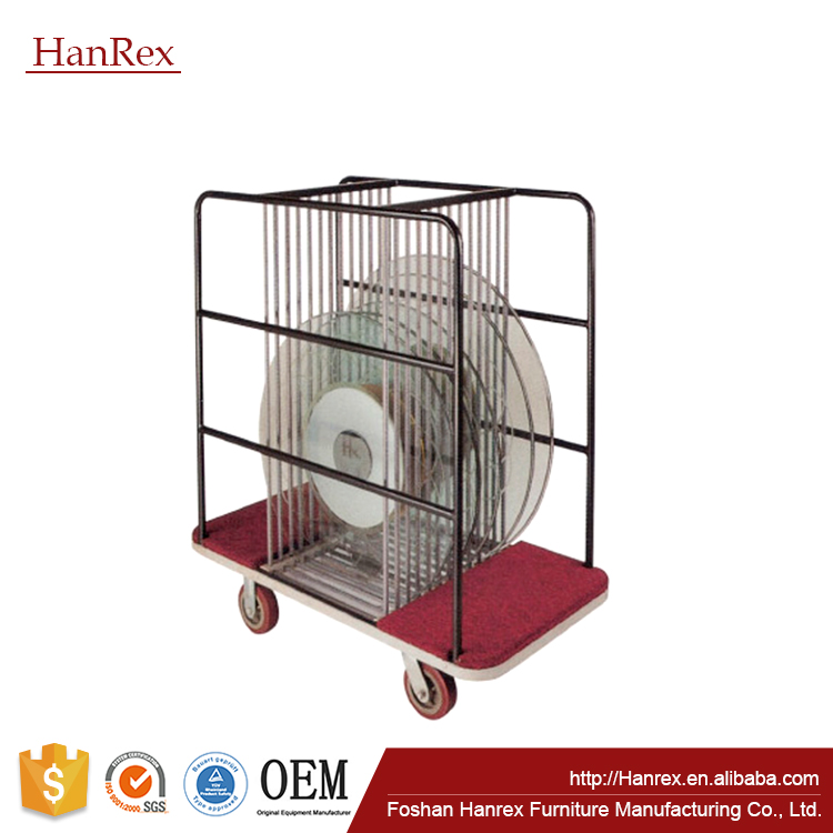Catering table kept cart/Hotel /Banquet table trolley/For glass table wheelbrrrow XL13301