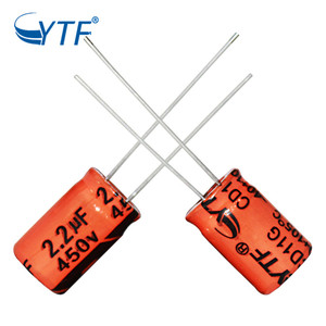 Long Life Epcos Aluminum Electrolytic Capacitors 2.2uf 450v For Water Pump Motor Pump