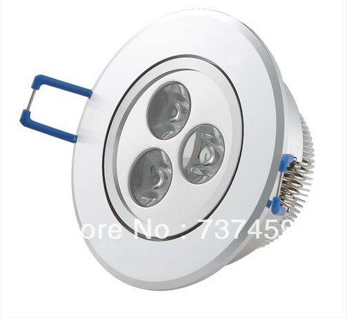 CE&ROHS Dimmable 9W 3x3W 85~265V Led Recessed Downlights Cool/Warm White Energy Saving Led down light ceiling free shipping
