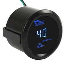 2 Inch / 52mm Digital Blue LED Electronic Oil Temp Gauge Kit for Car / Trucks / Motor