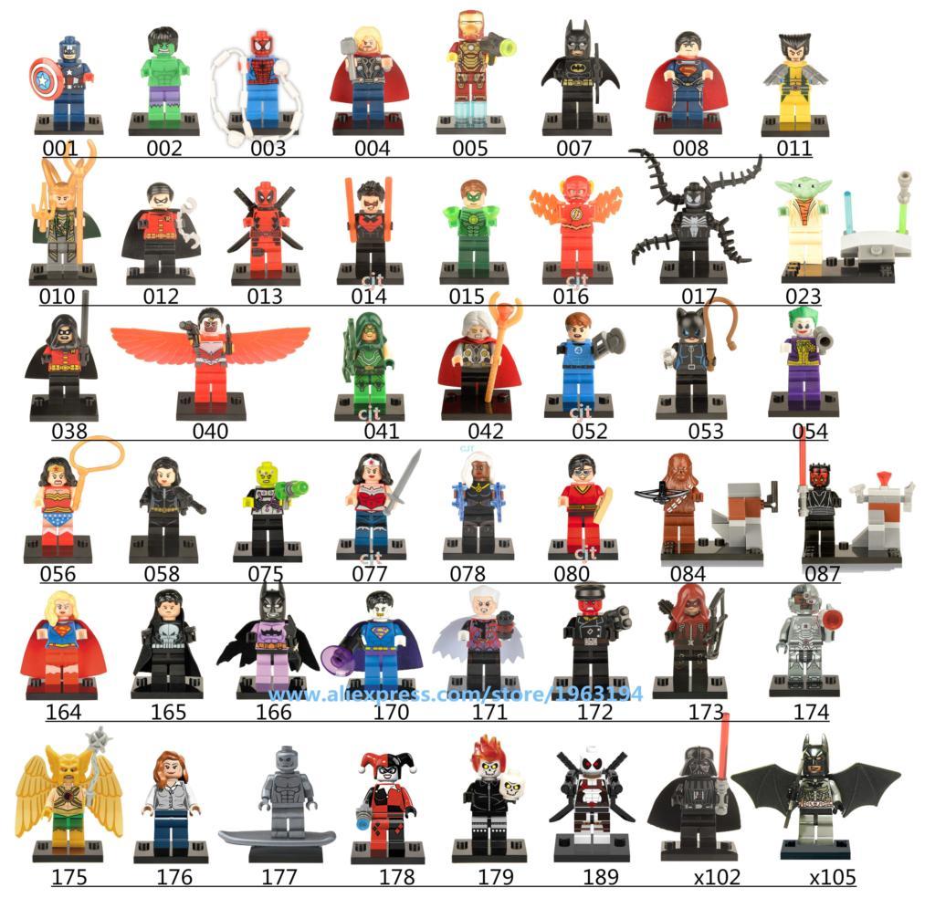 Single Sale Big Name Wars Tremendous Heros Minifigures