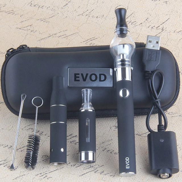 portable dry herb vape evod 4 in 1 <strong>kits</strong> rechargeable battery CBD cartridge