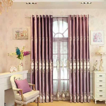 Latest Luxury European Purple Velvet Curtain Designs Made In Guangzhou With  Fancy Valance