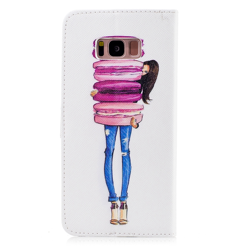 Wholesale photo frame wallet case pouch for Samsung Galaxy S8 Plus