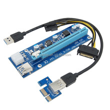 VER 007 pci-e extender adapter card PCIE Riser 1X to 16X external pci express slot converter card for Bitcoin