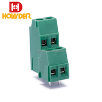 5.0mm PCB Screw Green 6 pin Screw Auto Connector Terminal Block