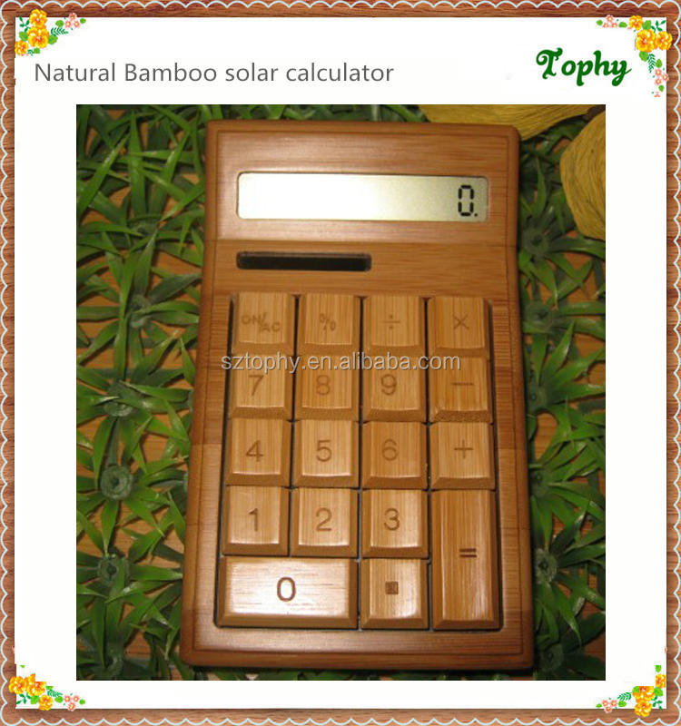 new arrival bamboo solar calculator promotion , china calculator solar