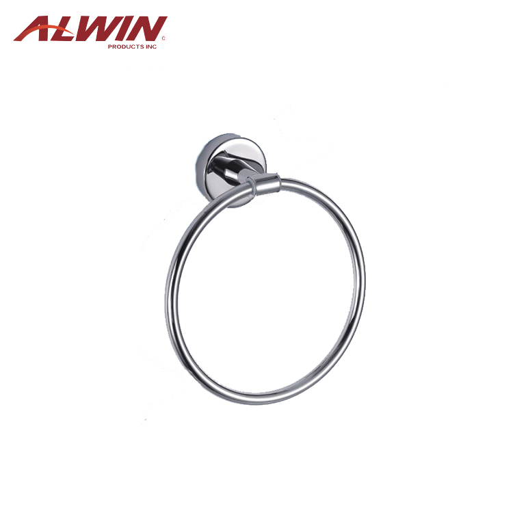 304 Stainless steel bathroom accessories set towel ring ss6211
