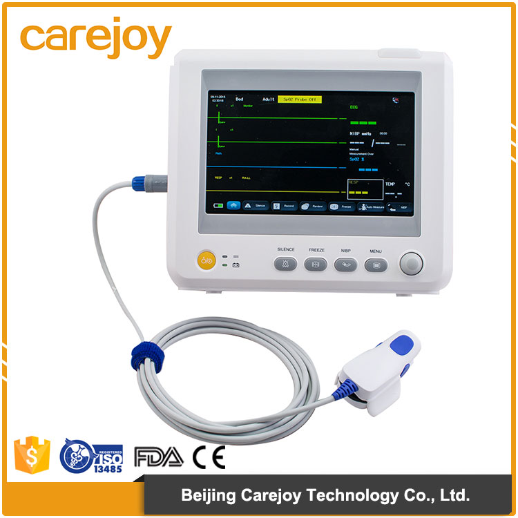 China factory sale medical equipment Handheld 7 inch 6 parameter Patient Monitor with Capnography optional printer