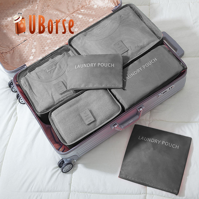 UBORSE Foldable polyester Wholesale Shirt Travel Packing Cubes bags Organizer