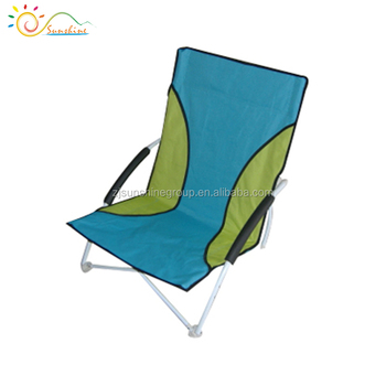 promotional low seat sun beach chair lightweight foldable sand chair