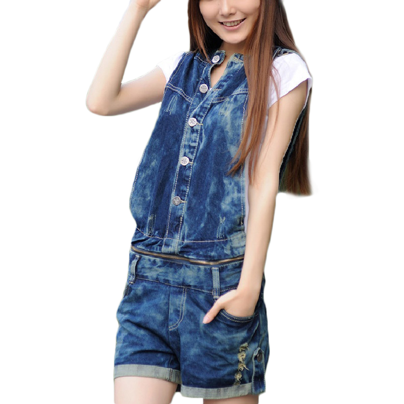 f62839c1084f Get Quotations · New promotion Women s short Overalls Jeans Fashion Ladies   Denim hooded overalls Jumpsuits shorts