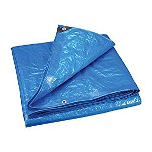Blue Poly Tarp Tarpaulin Poly Cover Canopy with Grommets12'X26'