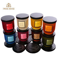 Luxury Scented Soy Candle Glass Jar With Lid luxury glass jar candles