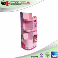 Cardboard display for snack food pop up christmas gift stand in supermarket/store, decoration/toy/accessory stand