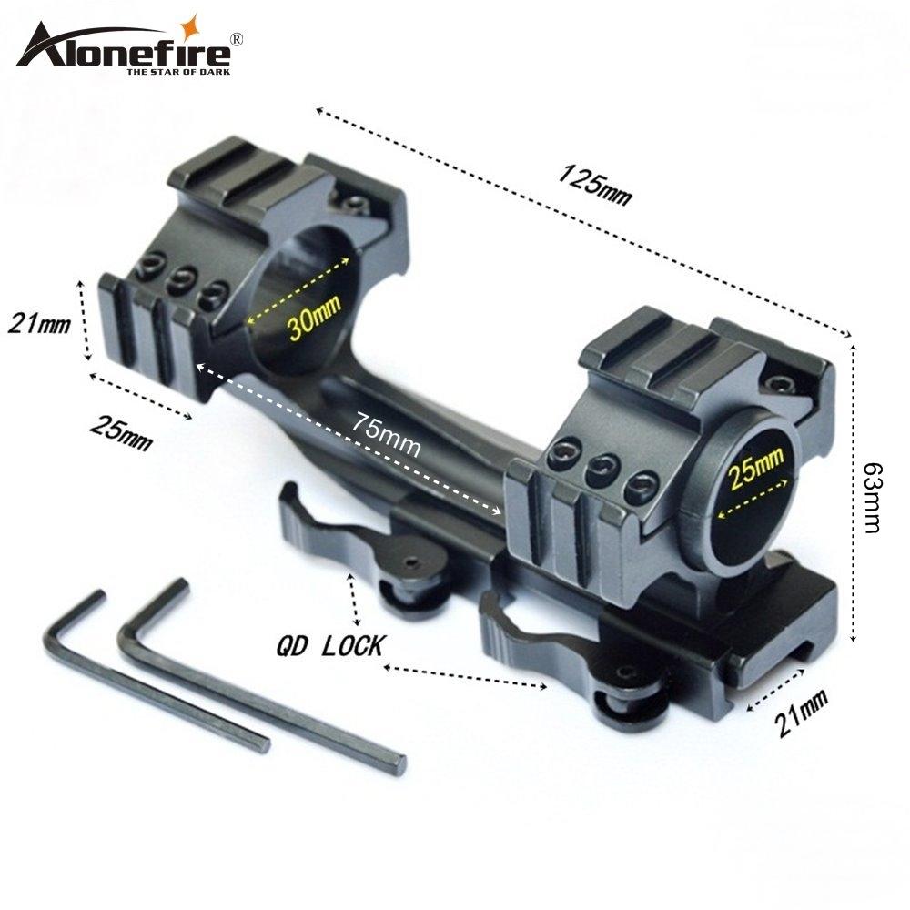 Alonefire KCLD3002 25-30 mm Dual Ring Adapter 21mm Rail bases Weaver Picatinny Rail Air Rifle Shot gun Laser Sight Scope mounts, Black