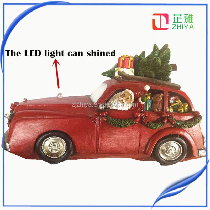 Europe style resin car toy bull statue yiwu hot sell