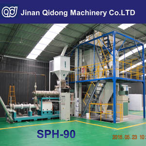 Jinan Qidong SPH-90 floating & sinking fish feed extruder machine