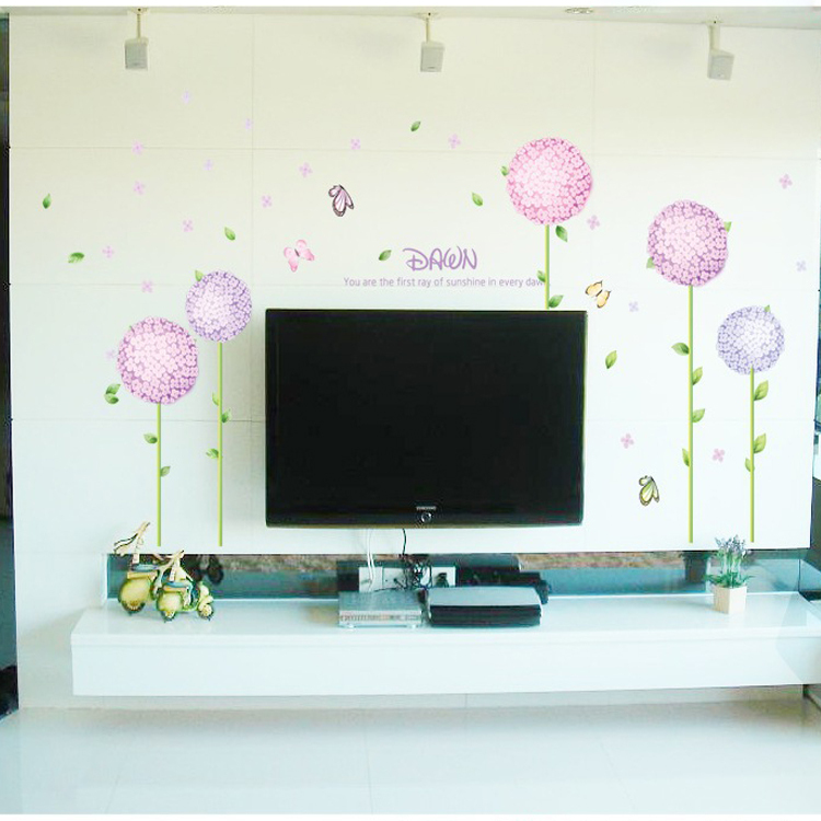 2015 hot sale home decor cheap sell 1 piece flowers wall - Cheap wall decals for living room ...