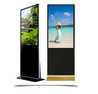 360 degree indoor LED touch screen vertical rotating advertising digital signage panel with solution