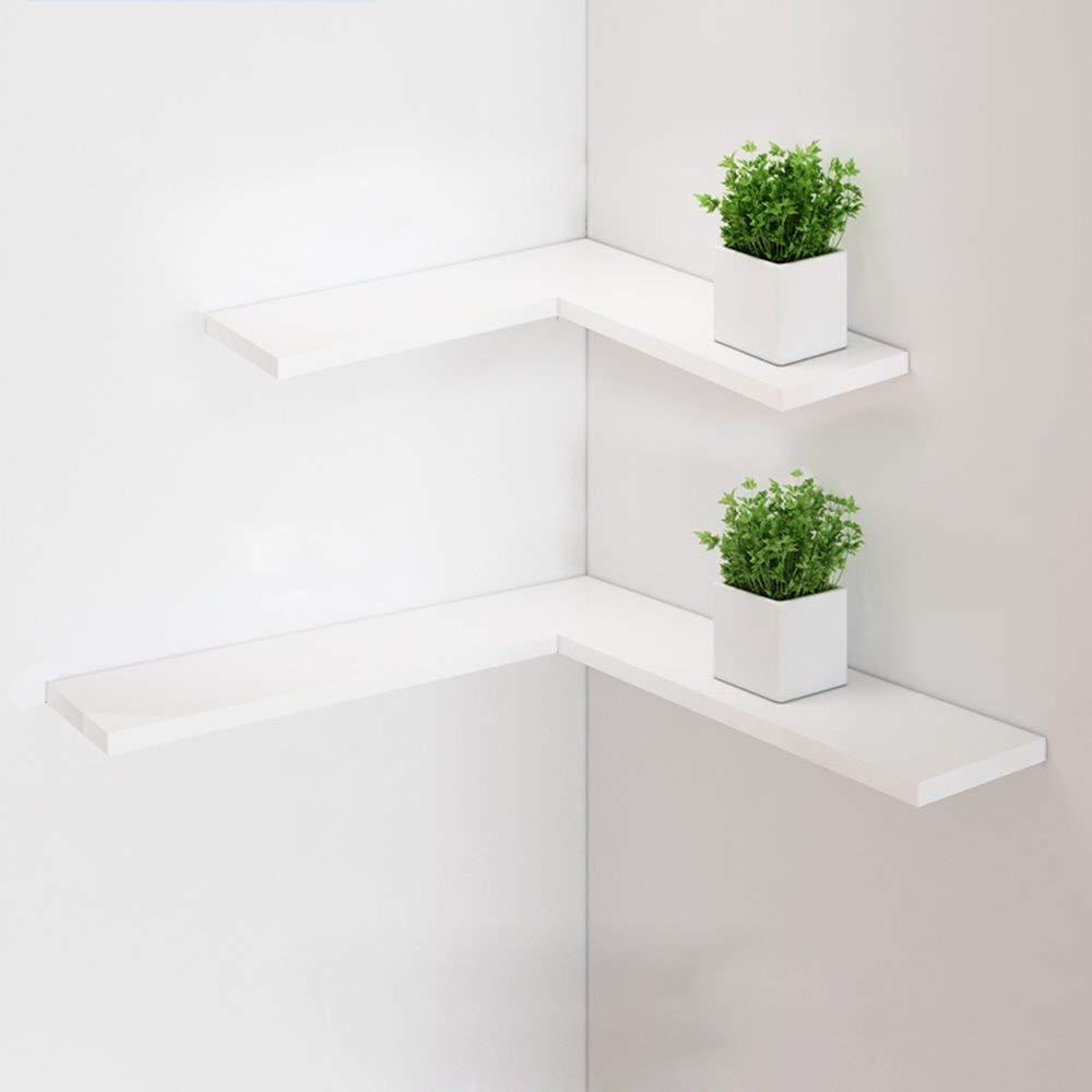 XY Shelf Creative Simplicity Kitchen Wall-mounted Shelf - Solid Wood Black/white Living Room Bedroom Storage Shelf - Kitchen Wall-mounted Shelf/2 Layer Living Room Shelf Size: 60x60cm/45x45cm%