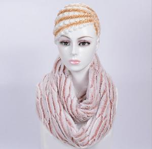 Winter warm 6 color pink fur infinity scarf