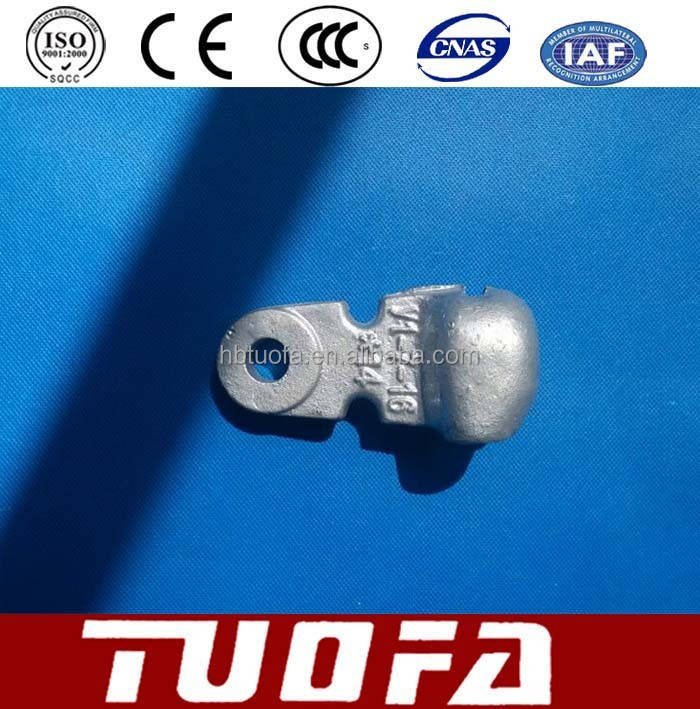 Hot-dip Galvanized Malleable Cast Iron Socket Clevis / Electric Power Clevis Hardware
