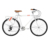 "26"" ALUMINUM BICYCLE 7 SPEED BIKE FOREVER C CITY BIKE HUANTAO SFYE806-1"