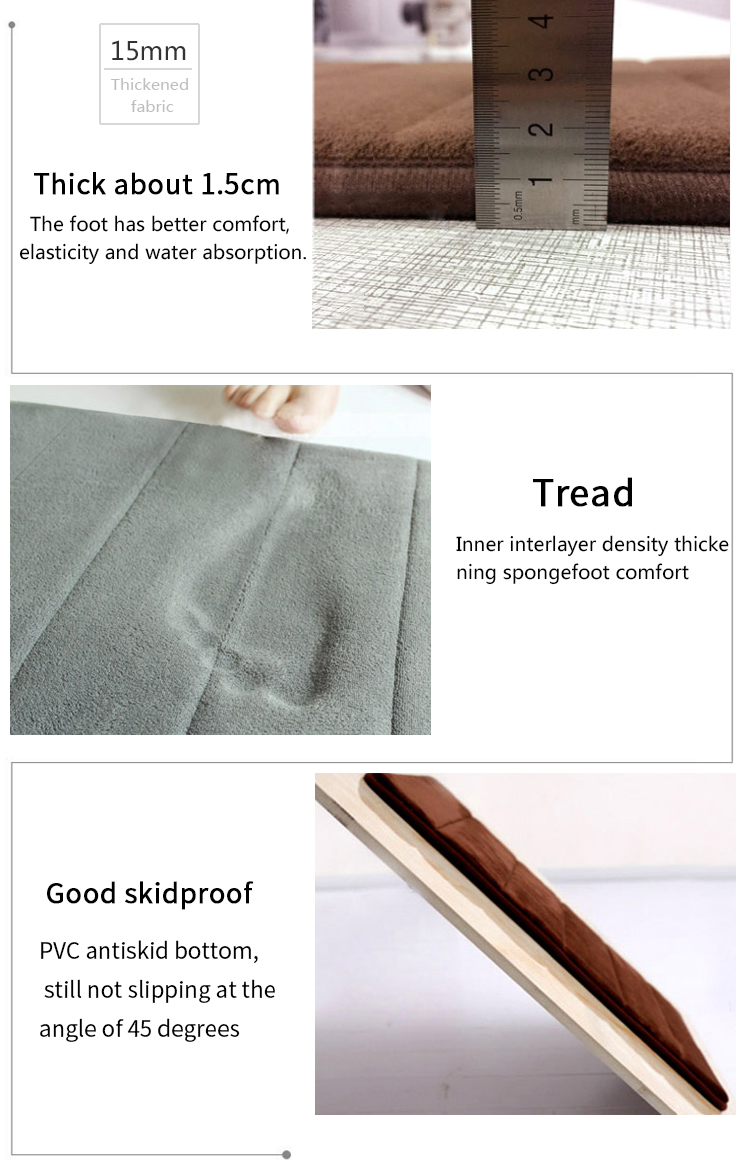 Water absorb memory foam bath mat non slip floor mat shower mat for bathroom bedroom door kitchen using