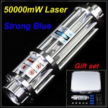 [RedStar]High power 80000mW 50000mW 10000mW Blue laser pointer shot bird light cigarrete blow soldering Laser cannon laser gun