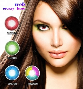 Attractive purple/Fresh Color Contacts Big Eyes Look Colored Lens With Various Designs Available