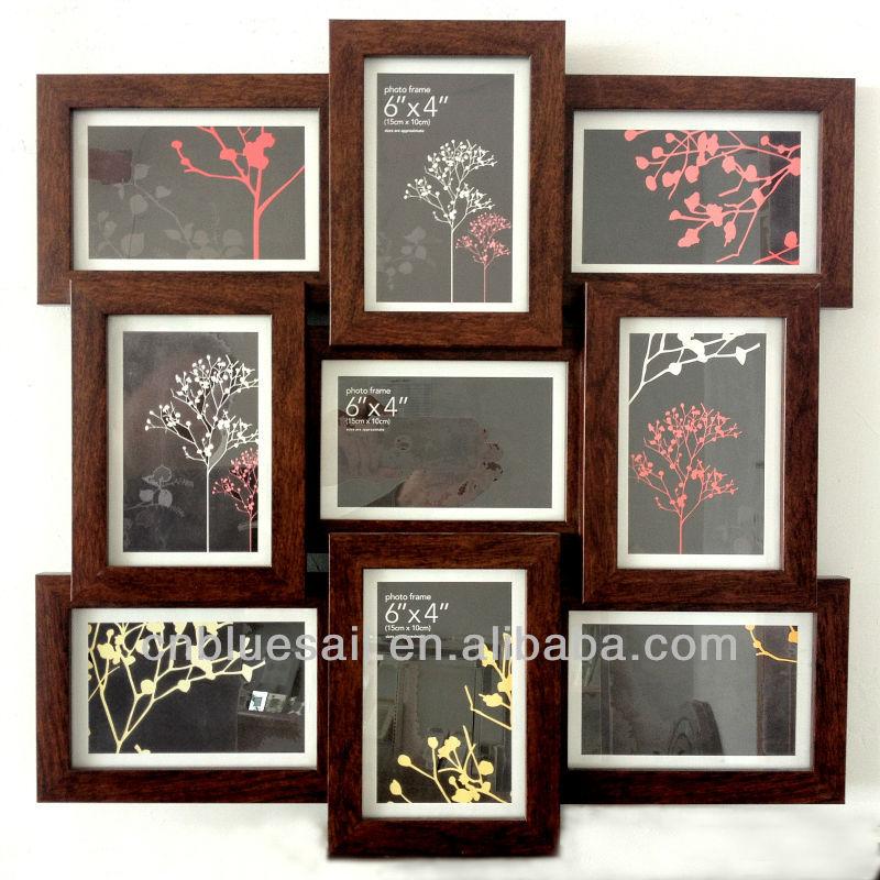 Wilko Photo Frame,Multi Aperture Photo Frame,Dark Wood Effect Large ...