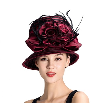 Hats Designer | New Design Wonader Woman Hat For Party With Rose Flower Buy