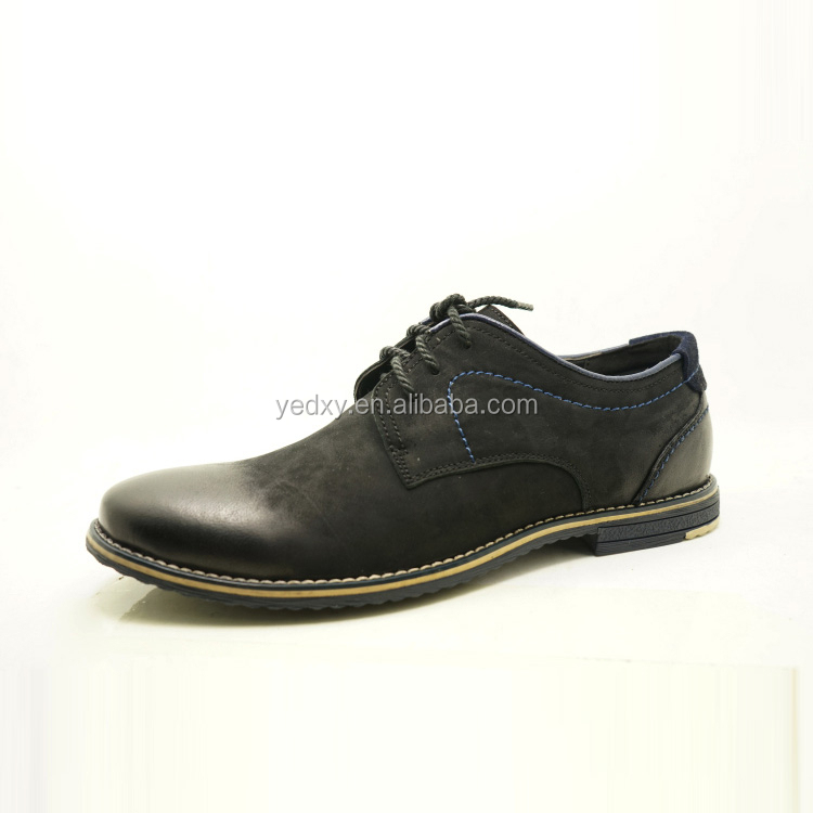 fashion type oxford handmade black velvet casual shoes for men