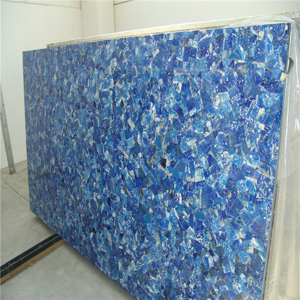 Natural Lapis Lazuli Gemstone Slabs Blue Semi Precious