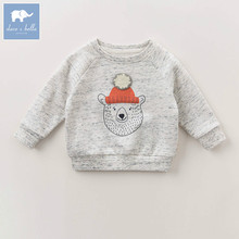 DBK0822 dave bella autumn infant baby girls boys fashion t-shirt kids toddler top children high quality tees baby print clothes